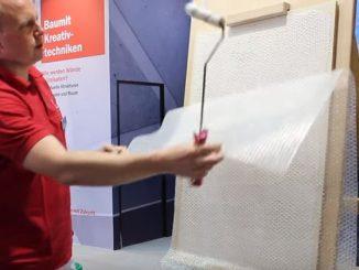 Putz mit Luftpolsterfolie