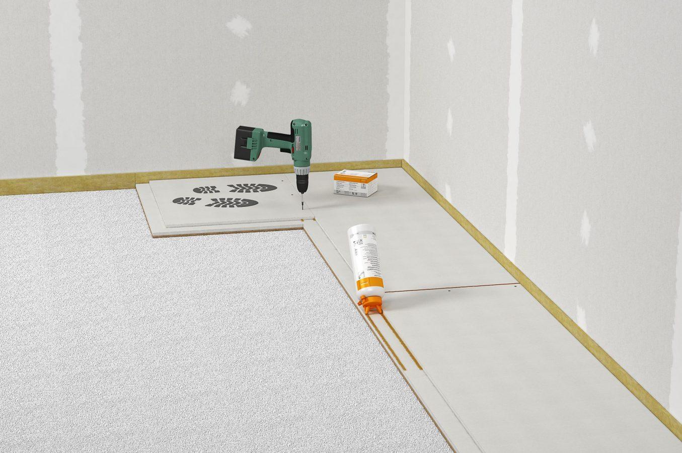 wie verlege ich trockenestrich und was muss ich beachten. Black Bedroom Furniture Sets. Home Design Ideas