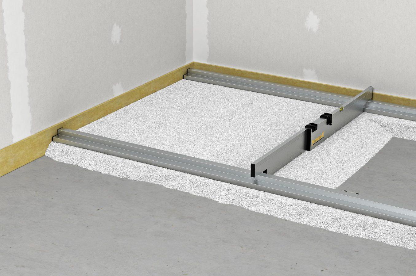 mit einer sch ttung unebenheiten unter trockenestrich ausgleichen. Black Bedroom Furniture Sets. Home Design Ideas