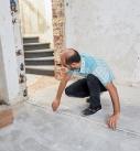 Position der Trockenbauwand am Boden aufmessen und markieren. Foto: Saint-Gobain Rigips GmbH