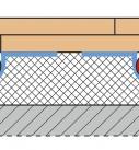 Die Trockenestrichelemente liegen auf dem Fußbodenheizsystem. Grafik: Fermacell GmbH