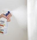 Schimmel-Stop-Produkt mit Salicylsäure aufsprühen. Foto: Auro