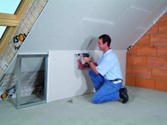 Die Abseite mit einer Trockenbaukonstruktion als Stauraum nutzen. Foto: Saint-Gobain Rigips GmbH