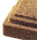 Schall- und Wärmeschutz durch natürliche Eigenschaften der Kokosfaser. Foto: Gittel Naturdämmstoffe