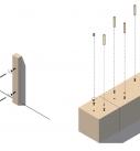 Zunächst werden Leisten an Wand, Boden und / oder Decke befestigt, an denen dann die Holzmodule fixiert werden. Grafik: Craftwand